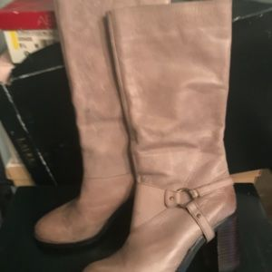 Boots.  Taupe Burnished Suede